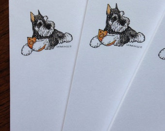 Mini Schnauzer with Mouse Notepad