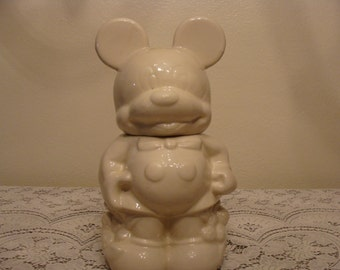 Mickey & Mini Turnabout 1940's Disney Cookie Jar in Excellent Condition