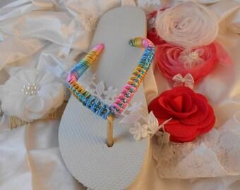 Havaianas Flip Flops Pastel on Black White Summer 2017 Designer Unique Labor Day Gift Crystals Bridal Gift sandals statement Fashion