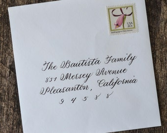 Calligrapher Hand Calligraphy Address Wedding Envelope