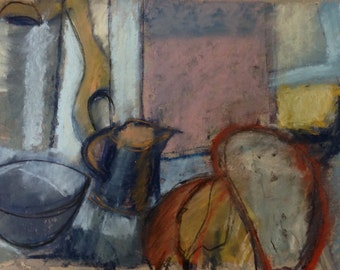 Still life with little brown jug