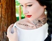 Fairest of Them All Snow White Script Tattoo