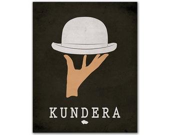 Milan Kundera The Unbearable Lightness of Being - Literary Poster Book Lover Gift Bookish Decor Minimalist Book Art Czech Prague Author