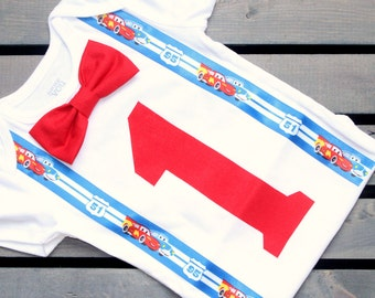 first birthday cars outfit- lightning mcqueen birthday - first birthday outfit - cars birthday
