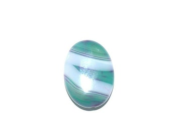 Teal and White Pendant - Agate Pendant Bead, Striped Agate Pendant, Necklace Supplies, Craft Supplies, Jewelry Supplies, Striped Pendant