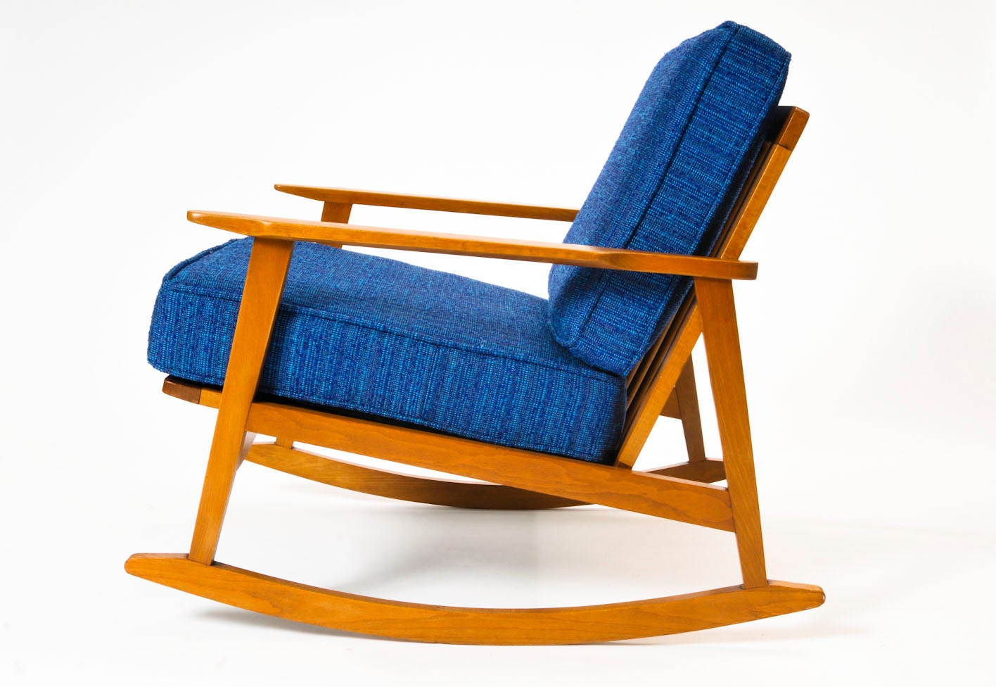 mid century modern danish modern maple lounge chair rocking