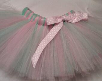 Mint and Pink tutu, Pink and Mint Green tutu, infant tutu, baby tutu, newborn tutu, toddler tutu, wedding tutu, birthday tutu, preemie tutu