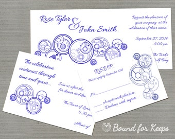 better with two gallifreyan digital wedding invitations 4 x