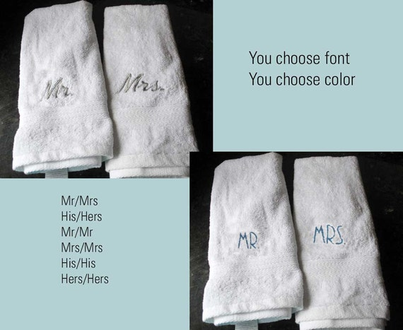 Wedding Shower Gift Ideas For Gay Couple : ... bridal shower present, embroidered hand towel, gay couple gift on Etsy