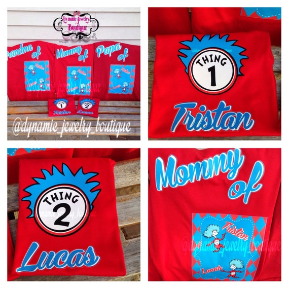Custom Thing 1 Thing 2 Shirts Thing Birthday By