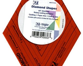 Diamond Shapes Template - 60 degree diamond (WRI882670182) Quilt Template, Ruler