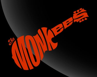 The Monkees Single Color Decal Sticker