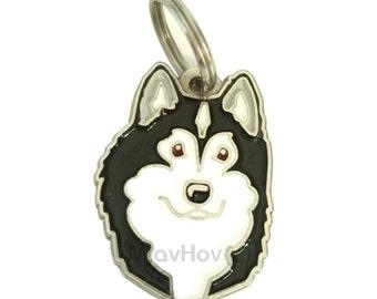Custom engraved pet tag Alaskan Malamute