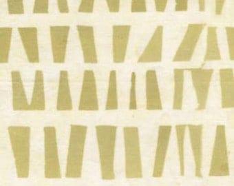 Fresh Water Java Batik Softies Geometric Butter Cream Batik Fabric by the Yard GALJABEZA1-0022