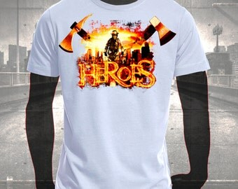 "T-shirt printing ""HEROES"""