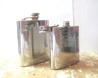 7 oz. Stainless Steel Art Deco Design Flask