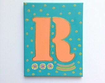 Letter R Art, Letter R Painting, Letter Painting