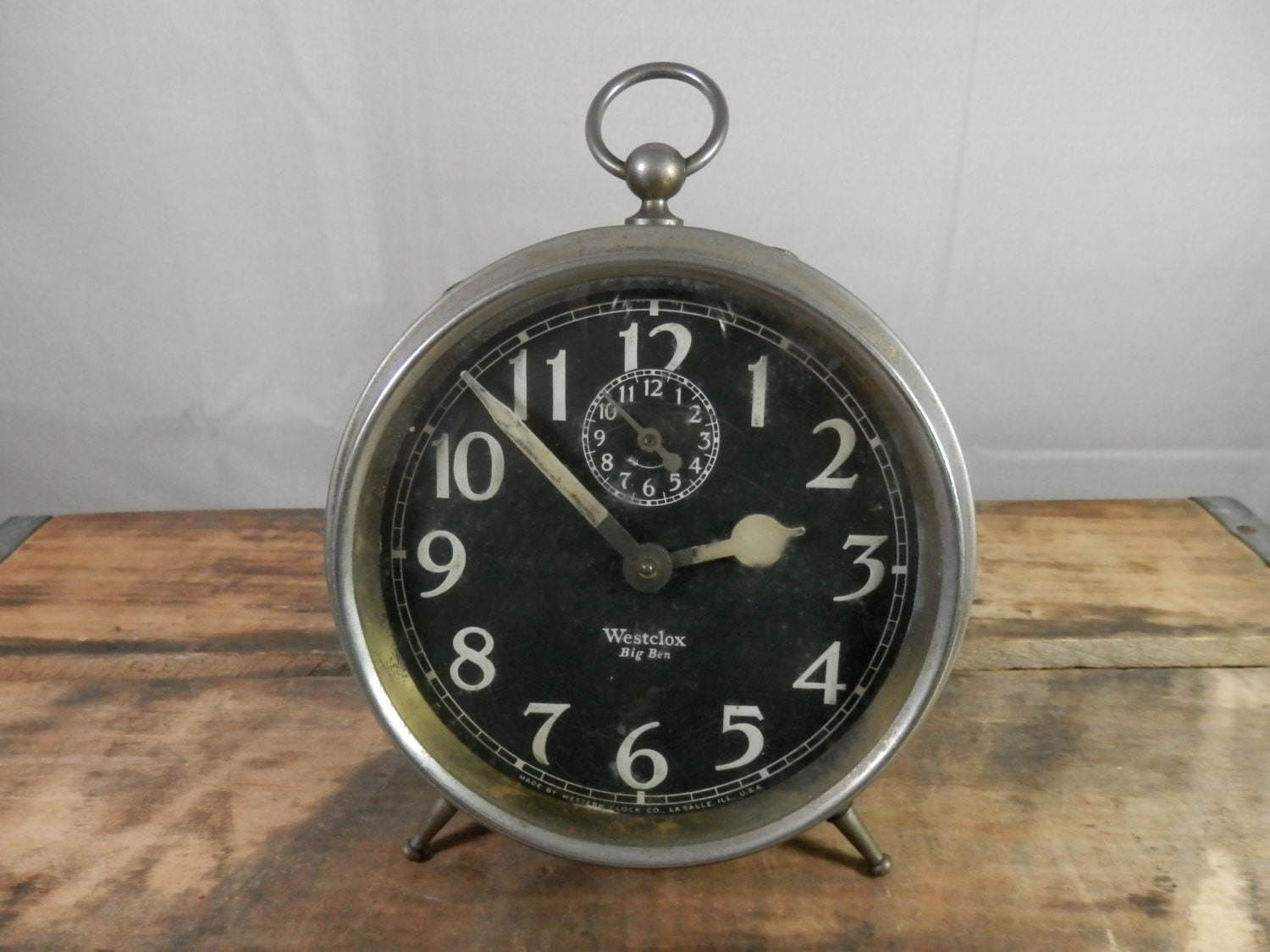 Vintage Alarm Clock Westclox Big Ben Wind Up Style 1a Working