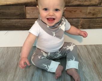 Baby Deer Leggings- Baby Deer Outfit- Hunting Baby Boy Legging- Hunting Baby Clothes- Baby Hunting- Baby Legging- Boy Pant- Toddler Legging