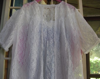 Nightgown and robe shabby chic