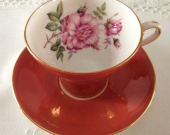 Beautiful Aynsely Corset Style Tea cup and Saucer