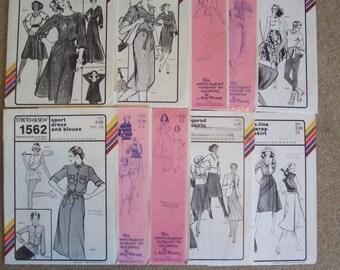 1970's Stretch & Sew Patterns Lot of Ten       S708