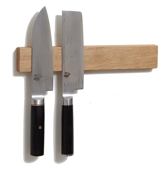 M O C Board 12 White Oak Magnetic Knife Holder Or