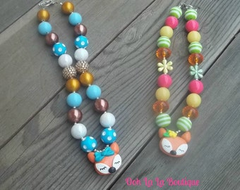 Little Fox Chunky Necklaces