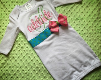 Customized Baby Girl Gown