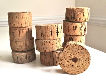 """Vintage Cork ONE 4"""" Cork Ring Float Large Cork Wheel Tons of Texture for your Decor, Props and Design!"""
