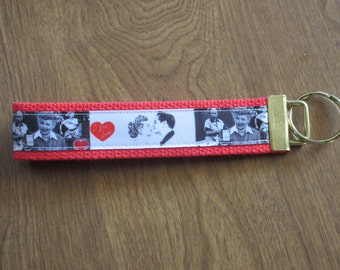 I Love Lucy wristlet key fob holder key chain