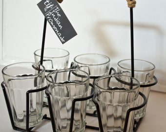Cutting Chai Glasses with Stand