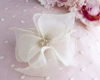 silk flower, silk flower for hair,  silk flower comb, silk flower barrette