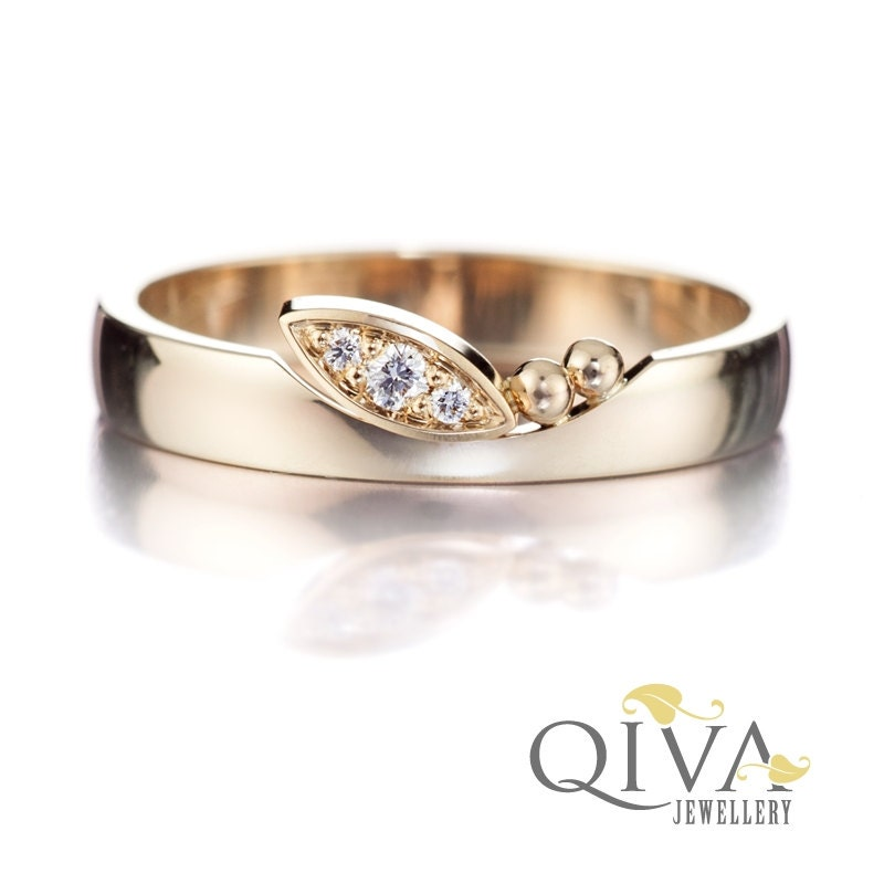 marquise ring marquise engagement ring unique by qivajewellery