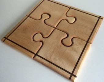 Wooden Puzzle Center Piece / hors d'oeuvre tray.