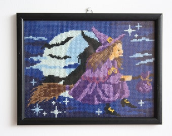 Completed Framed Cross Stitch Picture