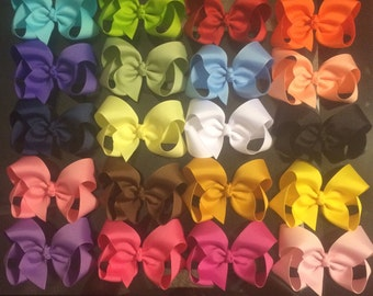 4-inch bow bundle, 20 count- You pick colors (listed in description)!