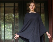 Italian Wool & Cashmere blend Poncho - Classic in Charcoal - Always classic, A wardrobe staple