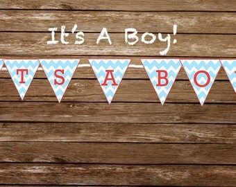 It's A Boy - Print At Home Banner