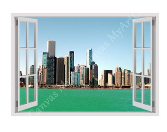 "30% OFF! Window Sticker Decal ""Lake Michigan"" decoration Poster Photo Artwork Gallery Photos print Reproduction wall art Present F"