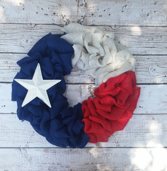 Texas wreath / Texas flag / Burlap wreath / Lone Star State