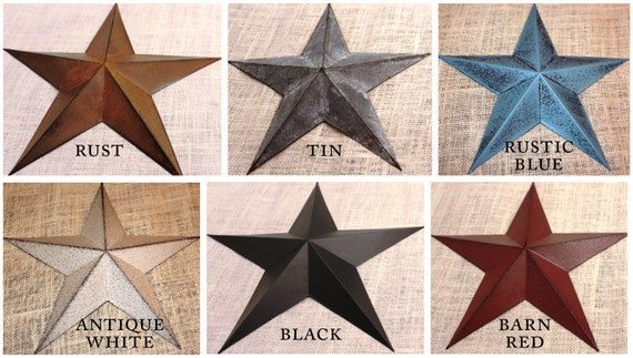 Exceptional 24 Large Metal Tin Barn Star Wall Decor Part 13