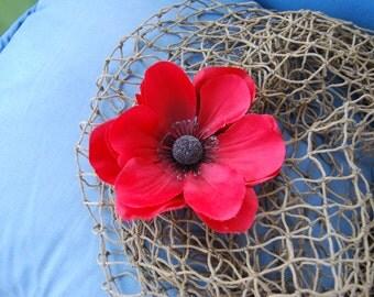 Poppy Flower Clip