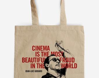 Tote Bag - JEAN LUC GODARD - Nouvelle Vague - Bolsa tela Algodón Totebag Tote - Cinema Fan Art