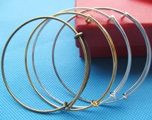 2015 High Quality Expandable Bangle Alloy Wire Bracelet,Adjustable,DIY Accessory Jewellery Making,For Beading and Charm