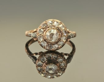 Georgian Flemish/Dutch 1.60 Ct diamond antique cluster ring