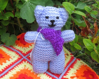 Hand knitted teddy bear,baby toy,