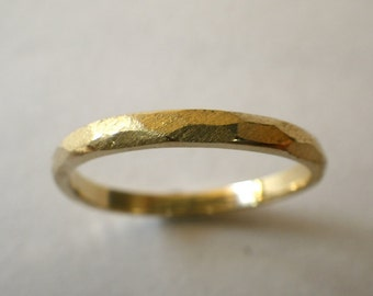 Faceted Gold Ring