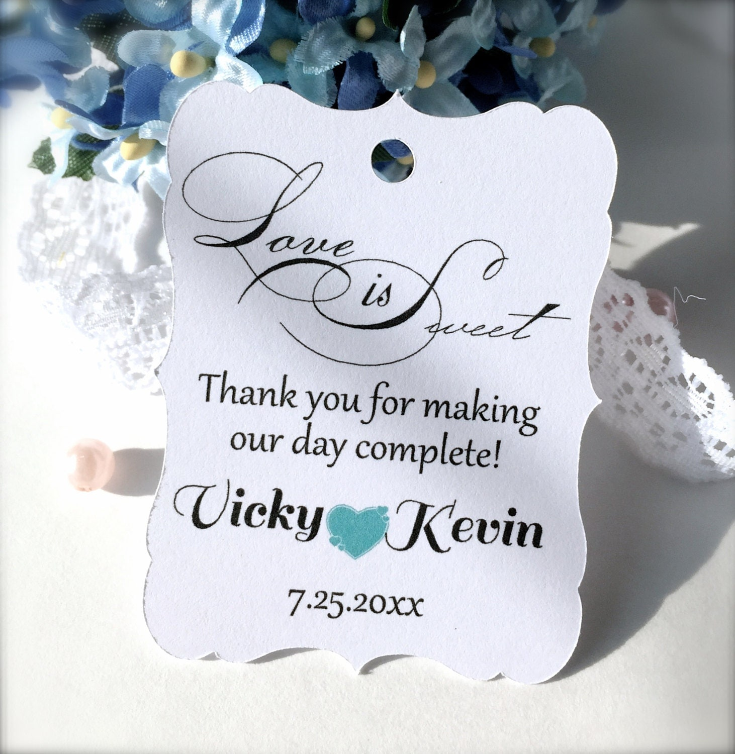 wedding favor tags custom thank you tags party favor tags