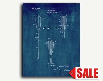 Patent Print - Fishing Tackle Patent Wall Art Poster
